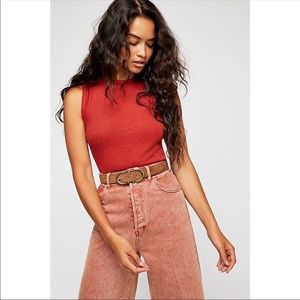 Free People All The Time Bodysuit in Terracotta